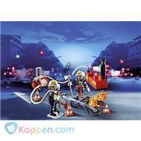 PLAYMOBIL Brandweermannen met brandslang - 5365 -  Koppen.com