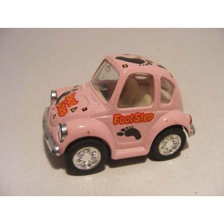 Volkswagen kever Footstep 1:64 KinToy roze - vw beele pink
