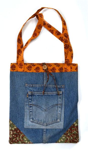 Recycled denim -- tote