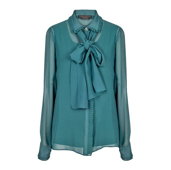 Шелковая блузка, 10900руб., Marina Rinaldi.