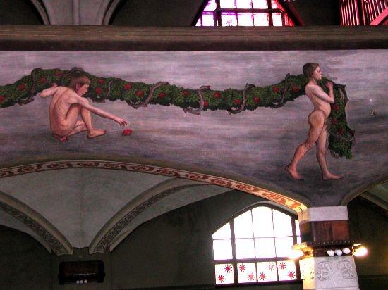Tampereen tuomiokirkko. Hugo Simberg: Köynnöksenkantajat/ The Garland of life. fresco. www.uta.fi