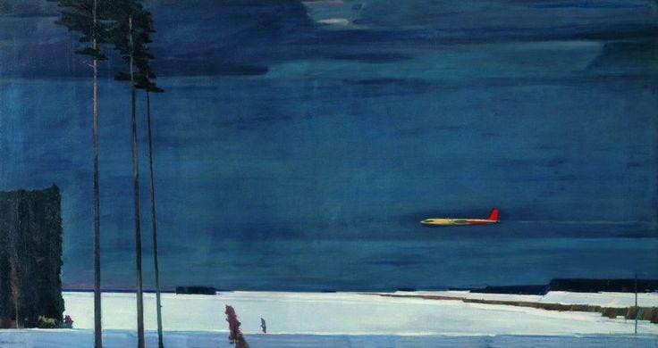 Нисский Георгий Григорьевич (1903-1987) Над снегами, 1960