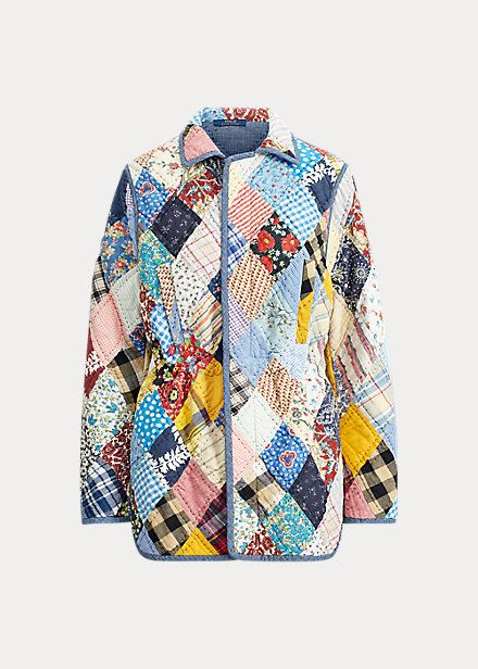 Quilt Patchwork Jacket In 2020 With Images Pea Coats