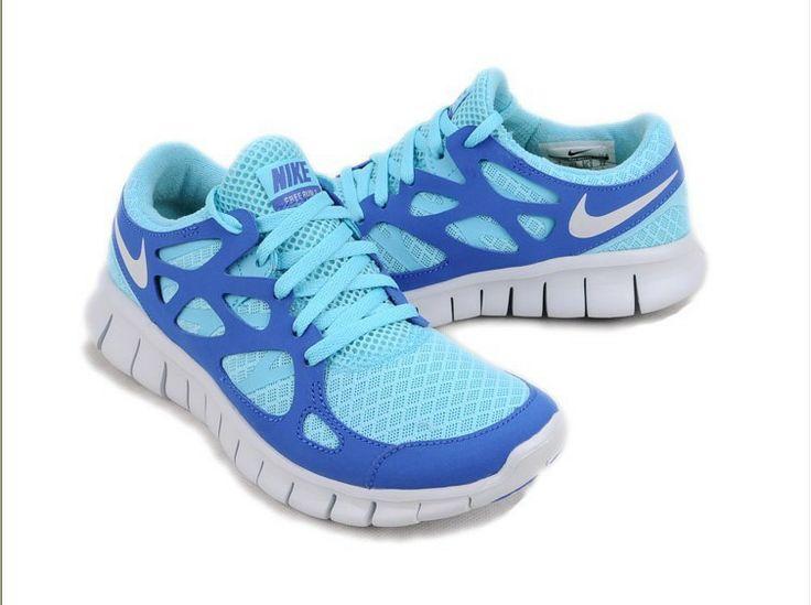 Nike Free Run 2,0 Damen & Herren Schuhe Sale Blau & Licht Blau