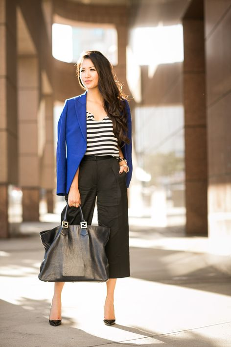 Top :: BLK DNM blazer (also adore this design), J.Crew top Bottom :: L'AGENCE (similar here) Shoes :: Christian Louboutin (similar here) Bag...