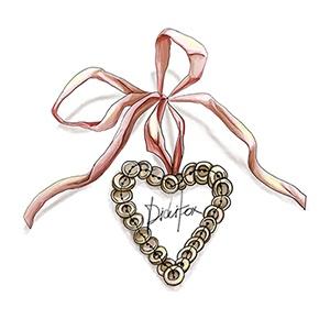 Pink Ribbon Batton Heart $4