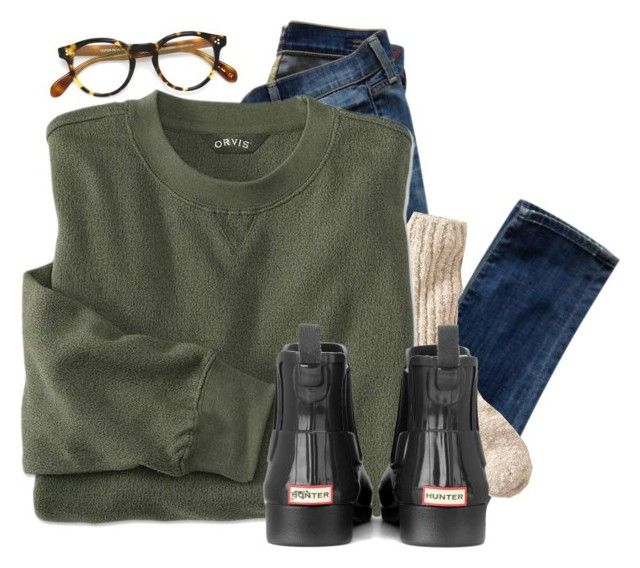 """""""// you know I tried, I know you tried //"""" by preppybelle ❤ liked on Polyvore featuring Citizens of Humanity, L.L.Bean, Hunter and Oliver Peoples"""