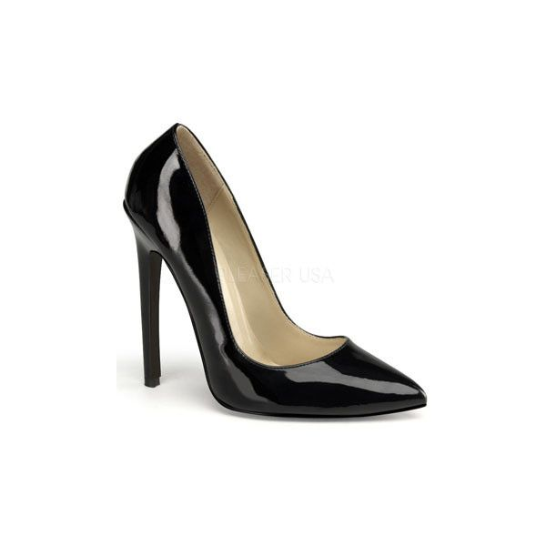 Sexy Fetish Black Patent Pointy Toe Pumps and wide range of Unique High Heel/Sexy at ElectriqueBoutique.com ($5.99) found on Polyvore featuring shoes, pumps, black patent shoes, patent leather pumps, black pointy toe pumps, pointy toe pumps and black patent leather pumps