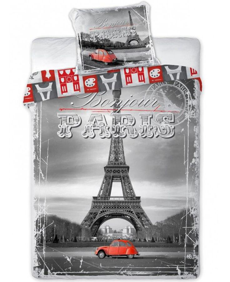 Celebrate your love for one of the world's greatest cities with this fantastic Paris City duvet cover set. Free UK delivery.