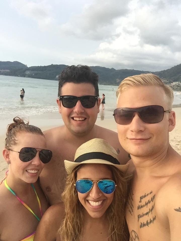 Travel buddies <3 amazing trip to Thailand 2014.  Phuket Patong beach