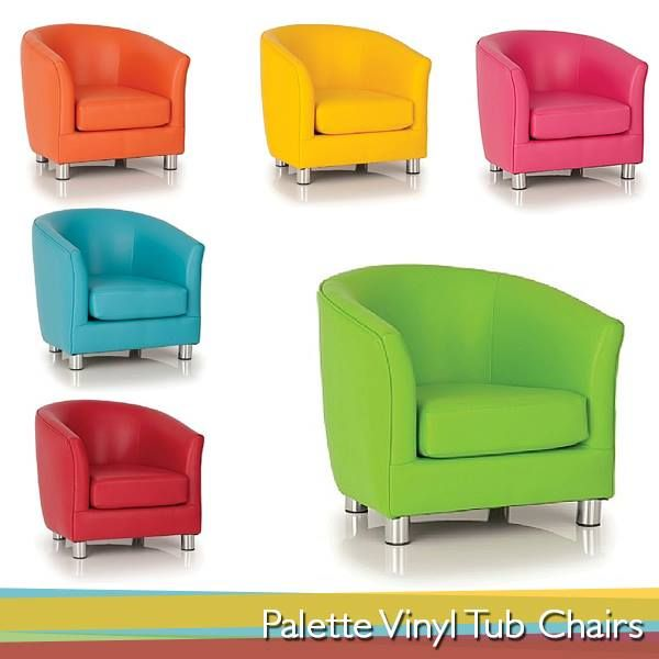 Here are Palette Vinyl Tub Chairs to make a perfect first impression on your clients. Tub chairs are perfect for any reception / waiting area. They add colour to the office environment and very pleasant to eye whilst very comfortable to sit on. Check out our range - http://www.office-desks.co.uk/palette-vinyl-tub-chairs.html