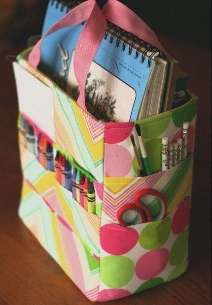 Art supplies Bag Pattern. Must make!  Ooo - Pennys is all in a box right now - I like this one