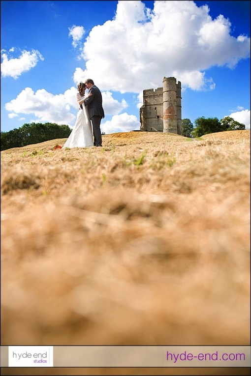 OK, Donnington Castle near Newbury isn't a wedding venue but it's a great place to stop off for some bride and groom portraits - as we did with Emma and Jamie at the weekend.