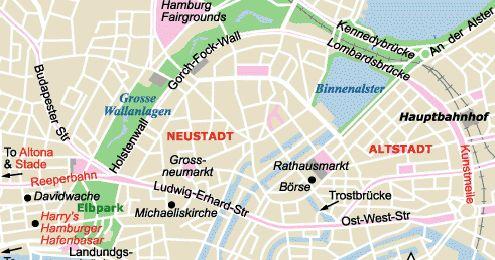 Mapa Turístico de Hamburgo #viajar