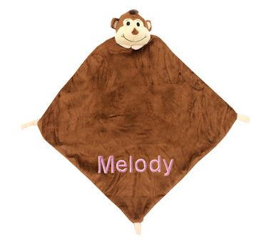 20 best gift ideas for security blankets images on pinterest personalized monkey themed security blanket for baby 2600 have their name or nick name on negle Image collections