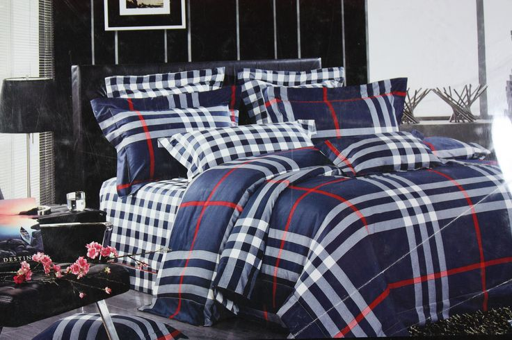 Truly inspired by rich combination of White and Navy Blue checks design, this Bed Linen set of size 245*275cm  will add just the right amount of pattern and interest to your bedroom. Not only that, it blends perfectly well with all color interior types and adds uniqueness to your ordinary bedroom.  This Bed Linen Set is great for use in any season and is absolutely skin friendly. Made of Fine Quality Cotton Fabric makes it easy to wash and dry at home for regular maintenance.