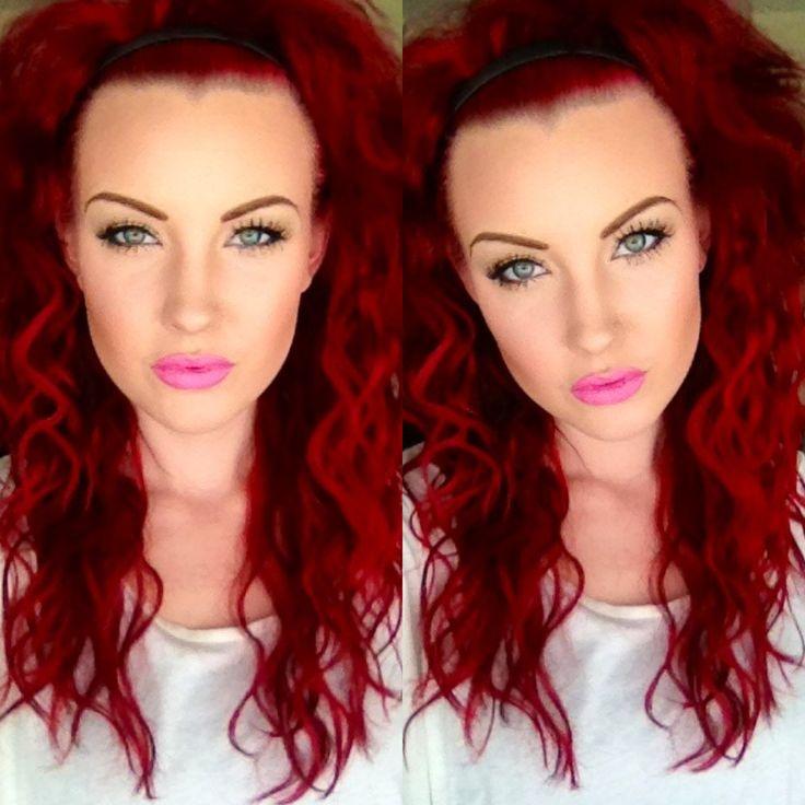 Pravana Vivids Red, Wild Orchid, and Violet. Mac Makeup Lipstick Saint Germain.: