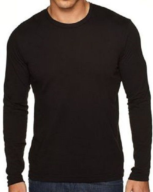 Plain Black Long Sleeve Shirt | Is Shirt