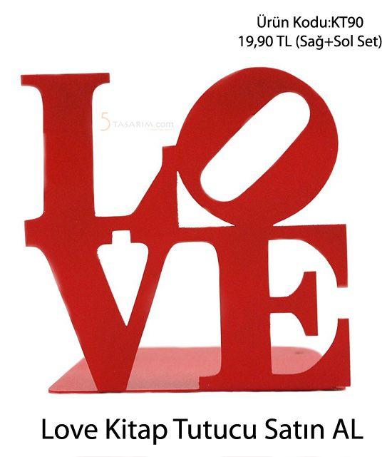 love kitap tutucu satın al