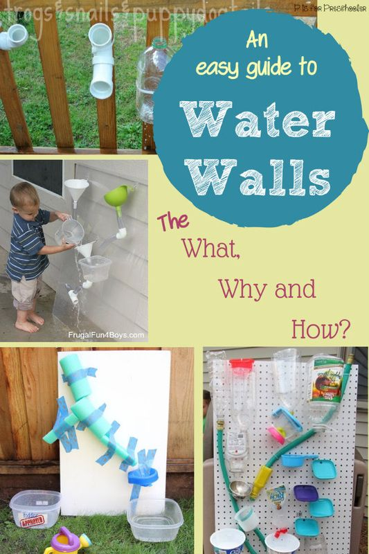 Everything you need to know about how to make a water wall for kids - and why you should!