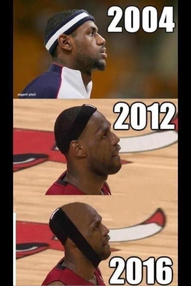 Lebron Hairline Meme and Miami Heat Joke