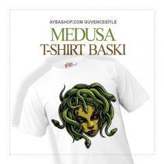 Medusa Karakterli T Shirt Baskı