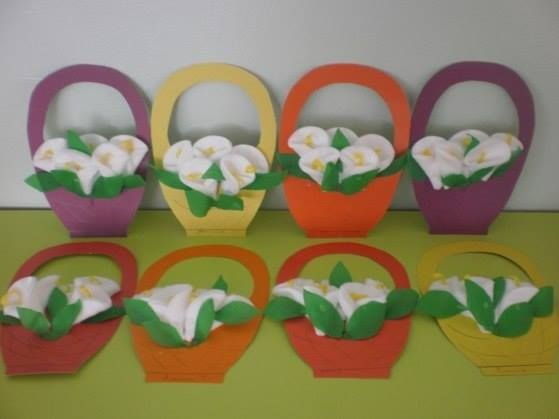 Цветы из ватных дисков - 5