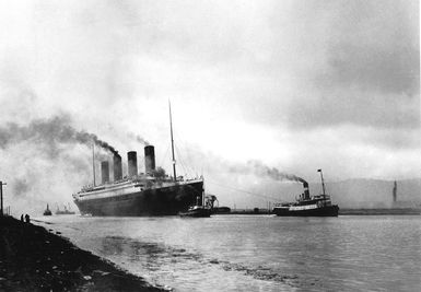 10 Surprising Facts About the Titanic: The Titanic leaving Southampton in 1912