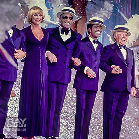 "Jack Carter, Elke Sommer, Ray Charles (dancing!), Sammy Davis Jr. and Mickey Rooney in a Maurice Chevalier act on ""NBC Follies"", aired on December 6, 1973."
