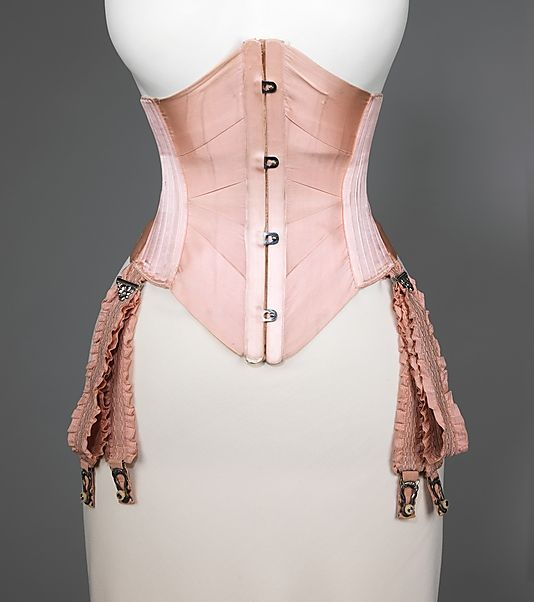 Waist Cincher  J. B. Corset Company   Date: ca. 1908 Culture: American Medium: silk, cotton, metal, whalebone