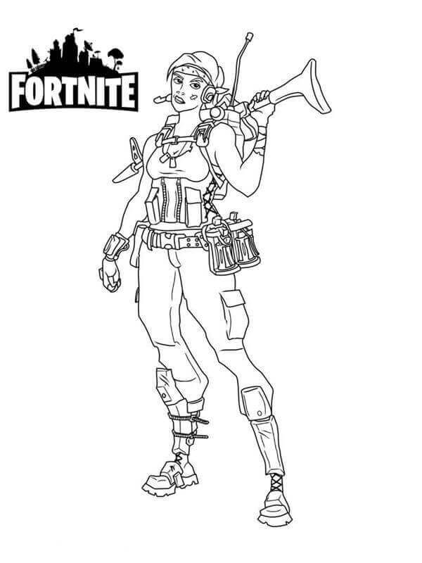 Fortnite Coloring Black And White Printable Fortnite In