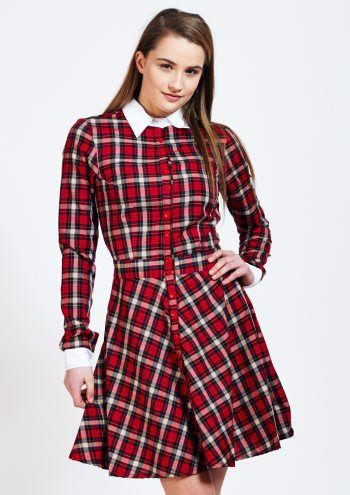 Red tartan dress - fell in love with this instantly. And as it's cut for us Talls, I don't look like I'm trying to wear a child's dress! ;-)