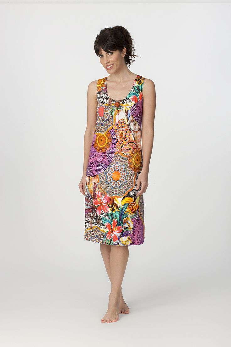 Vestido verano tirantes Egatex modelo Ethnic. http://www.perfumeriaelajuar.com/homewear/vestido-mujer--verano/34/