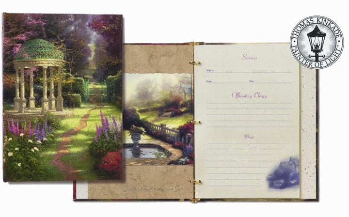 Guest book ideas thomas kinkade garden of prayer for Garden design ideas book