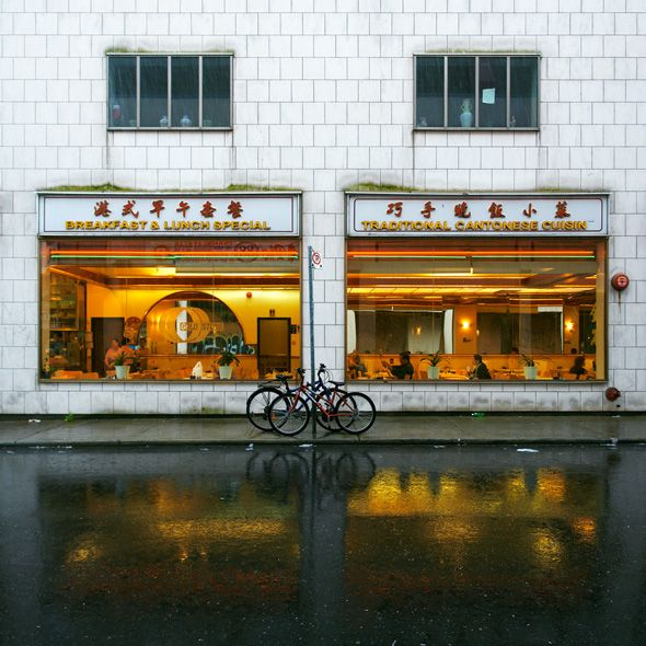 Rainy Day in Chinatown (Toronto) Photograph - Wall Art