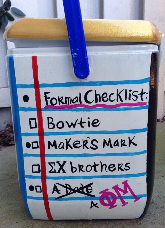 Frat Formal Checklist