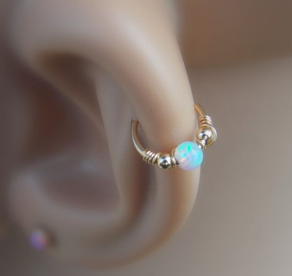 SALE Opal cartilage earring helix earring by sofisjewelryshop