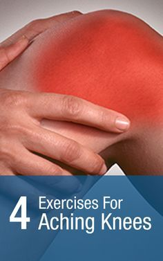 4 knee exercises for aching knees to help knee pain | http://Scrubbing.in Re-pinned by Therapeutic Resources - www.therapeuticresource.com