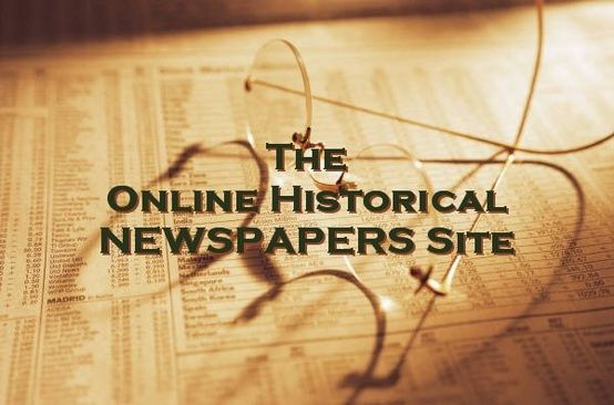 The Online Historical Newspapers Site: digitized whole-issue historical newspapers online at free and subscription sites. #genealogy