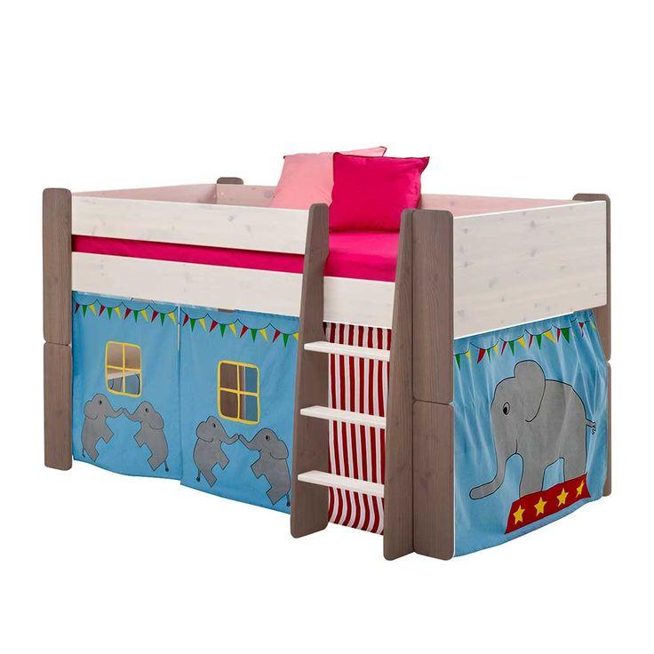 Cute Kinderhochbett mit Vorhang Elefant Design teilig Jetzt bestellen unter https moebel ladendirekt de kinderzimmer betten hochbetten uid udcfbbf bbd