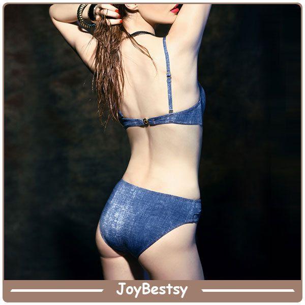 JoybestsybluDenimmodaprogettareunopezzocostumi da bagnoperle donne