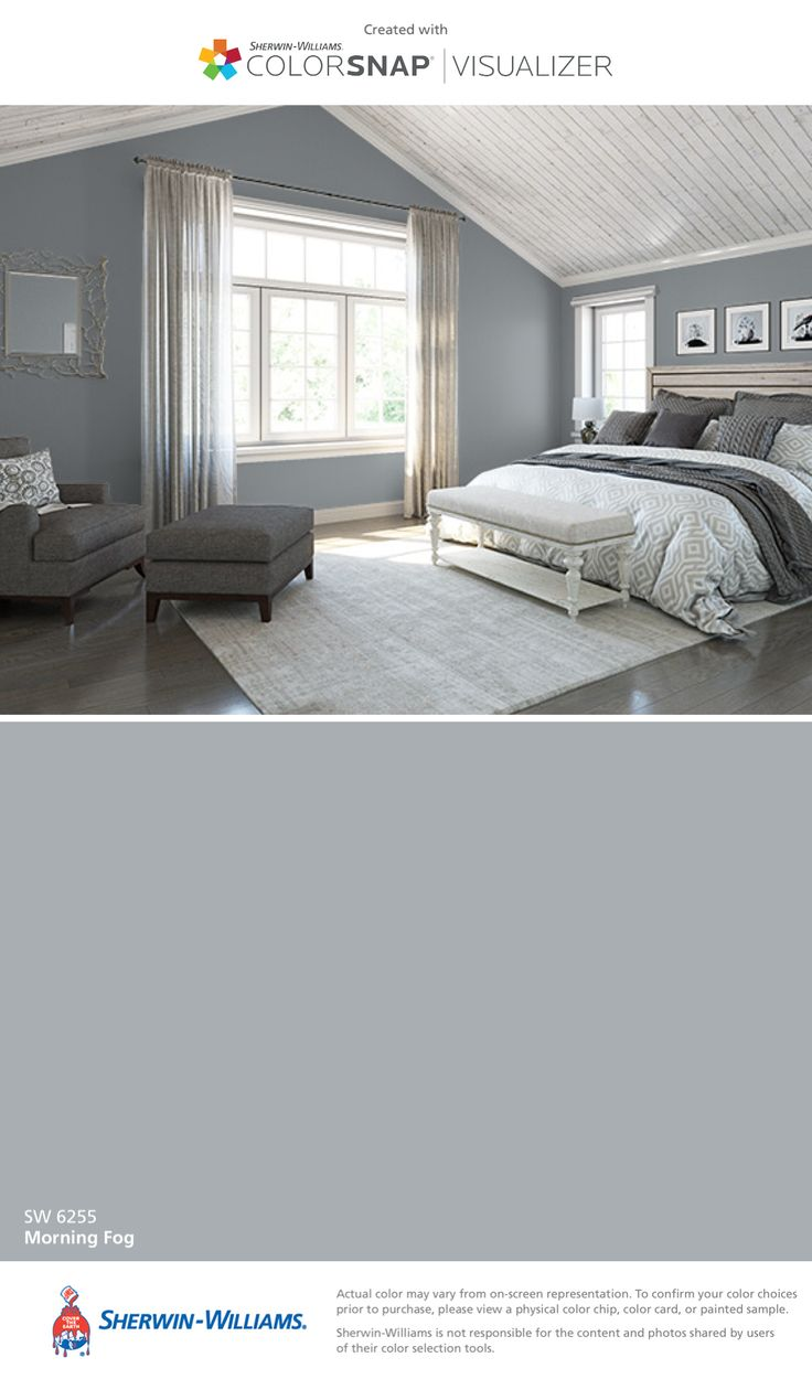 I found this color with ColorSnap® Visualizer for iPhone by Sherwin-Williams: Morning Fog (SW 6255).