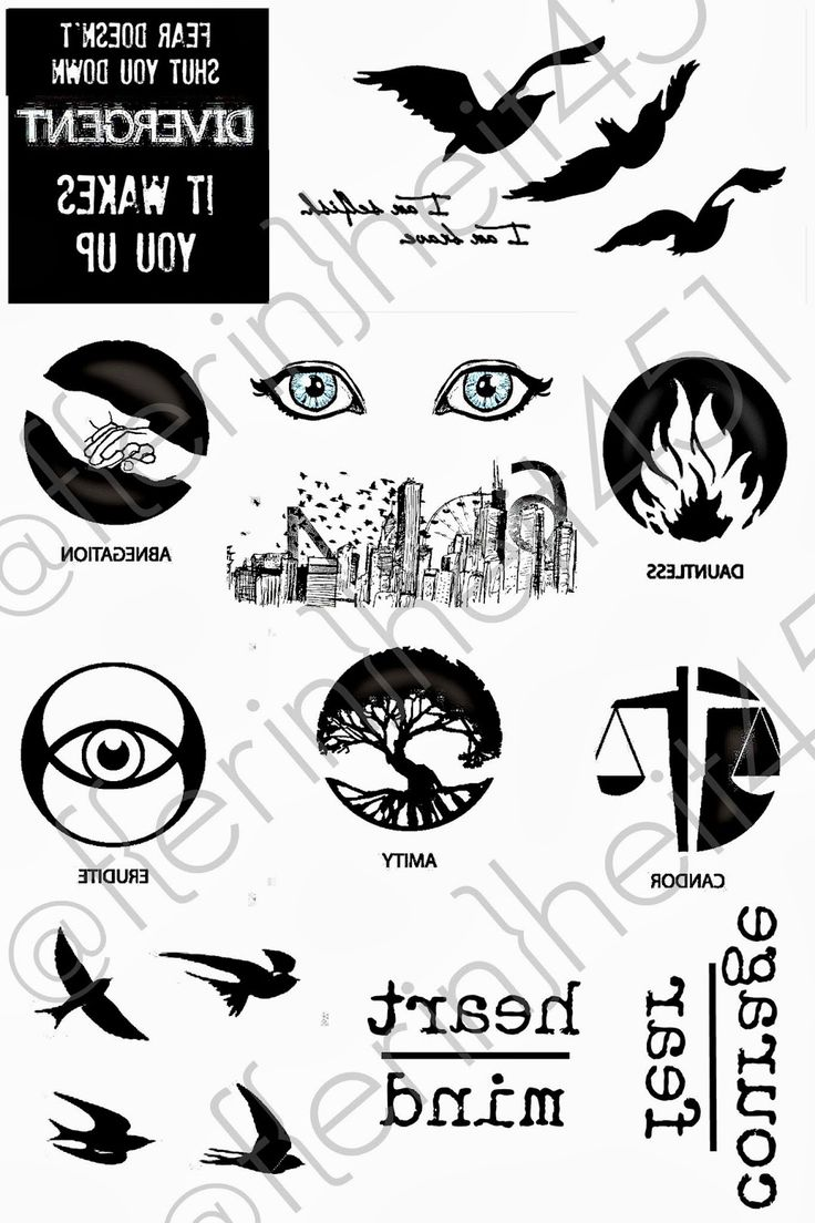 Bringing Up Burns: Divergent Premiere Party Ideas - DAUNTLESS - tattoo printable for ink jet tattoo transfer paper