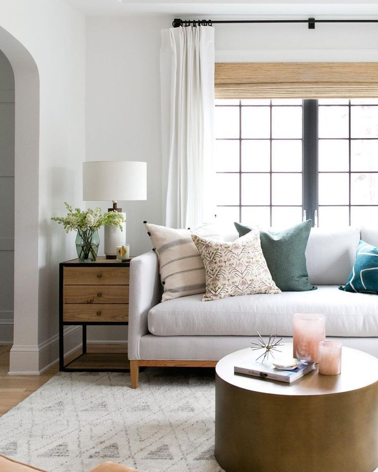 This space from @studiomcgee is just lovely! We found the exact sofa for way less and I like it better than the expensive version. http://cpycat.ch/2ue2sdD #CopyCatChic