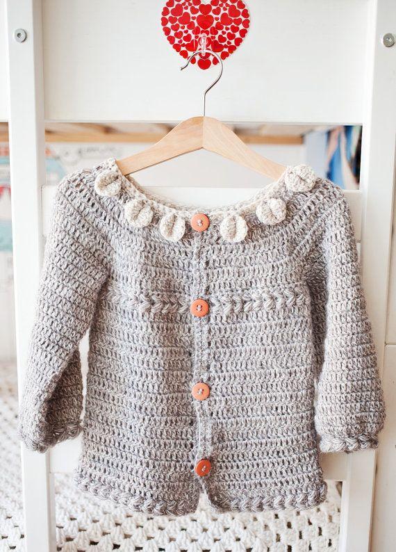 Descarga instantánea Crochet Cardigan patrón por monpetitviolon