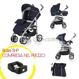 Trio Inglesina Zippy Free System 2012 instead of 629 € to 599 €!  Reversible seat allows you to change the position of the child from facing the street in front of mom.  Available in several colors.  http://www.lachiocciolababy.it/bambino/marina___telaio_titanio_+_base_shp-2615.htm