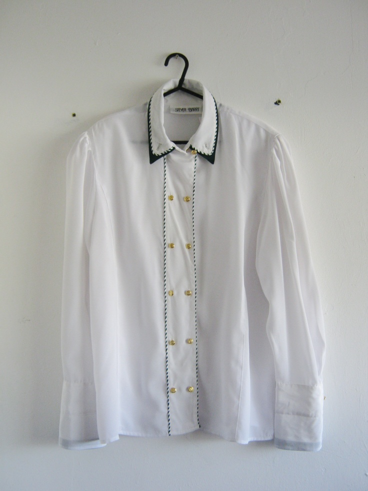 Nautical style vintage shirt. Available to buy. E-mail blackhousethriftage@gmail.com for more info, or see this item and more stock at Blackhouse Thriftage on Facebook. https://www.facebook.com/pages/Blackhouse-Thriftage/357110221069705