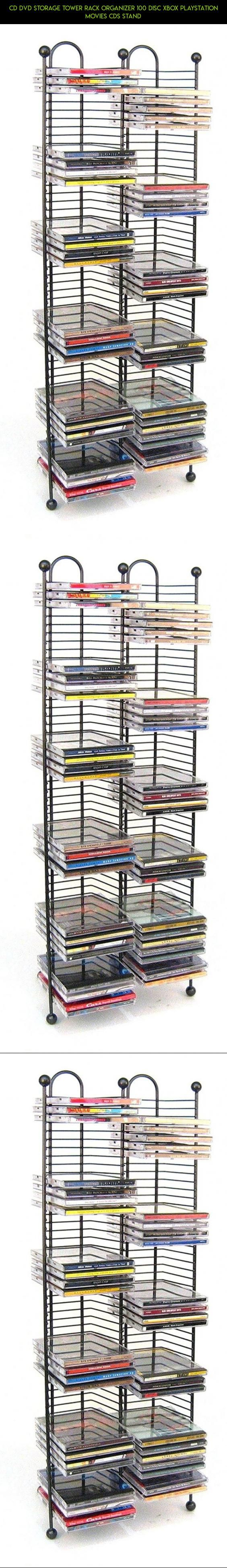 CD DVD Storage Tower Rack Organizer 100 Disc Xbox Playstation Movies CDs  Stand #fpv #