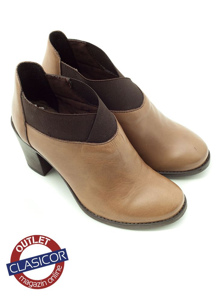 Botina din piele naturala, dama – 9105 maro deschis | Pantofi piele online / outlet incaltaminte piele | Clasicor