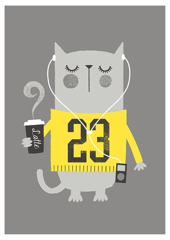 Cat. Bubble Gum Years - ETSY